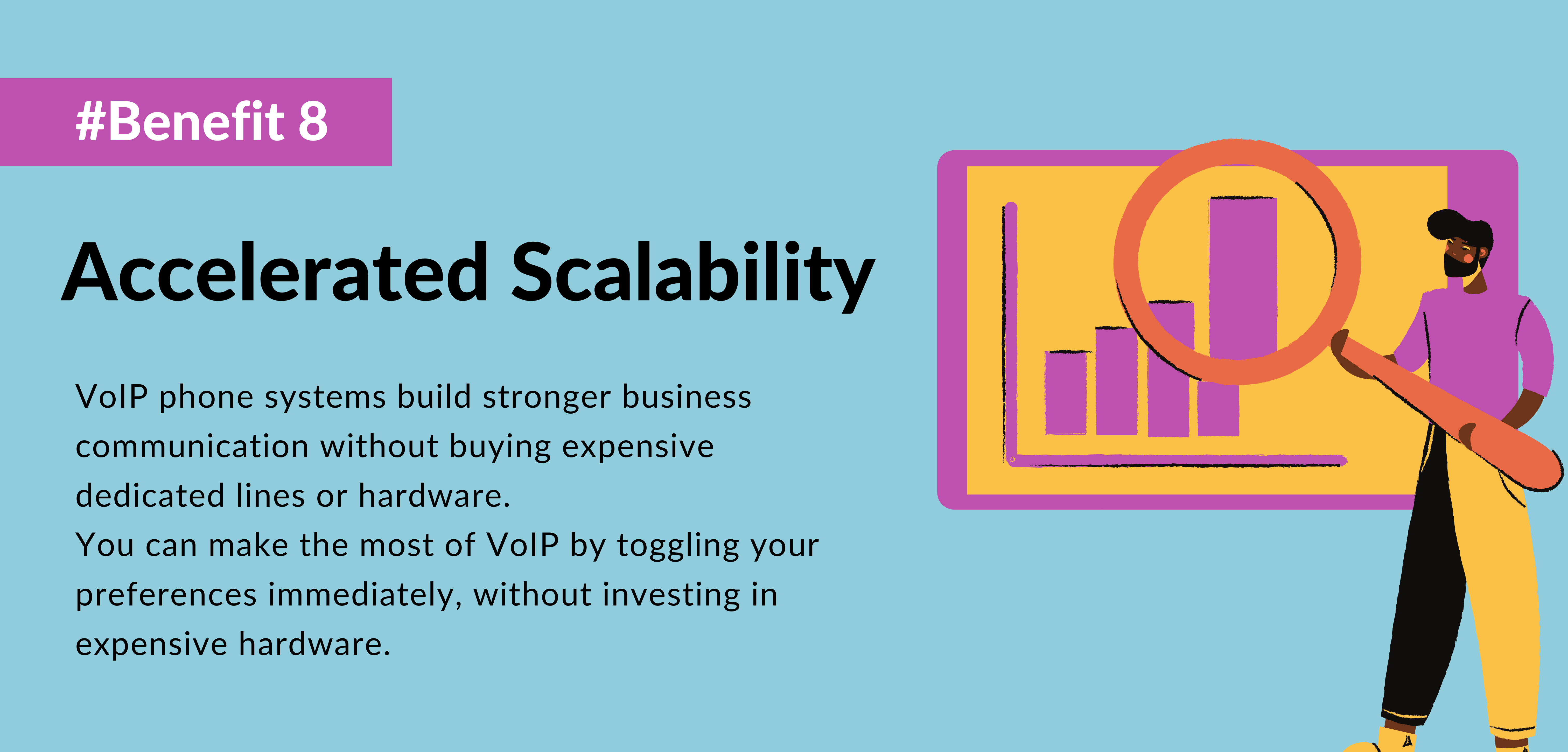 eighth benefit of using voip is Accelerated Scalability- telecloud