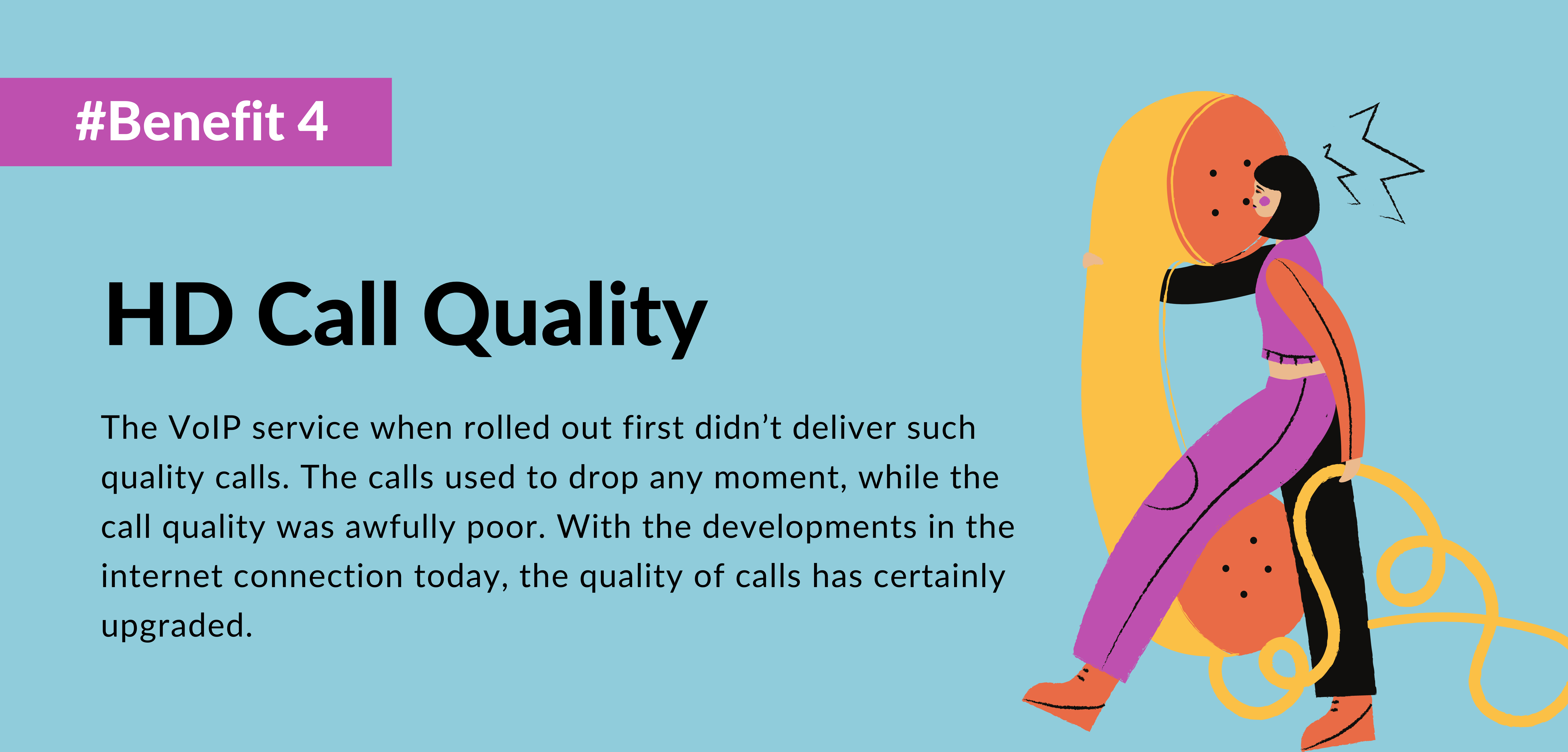 fourth benefit of using voip is hd call quality- telecloud
