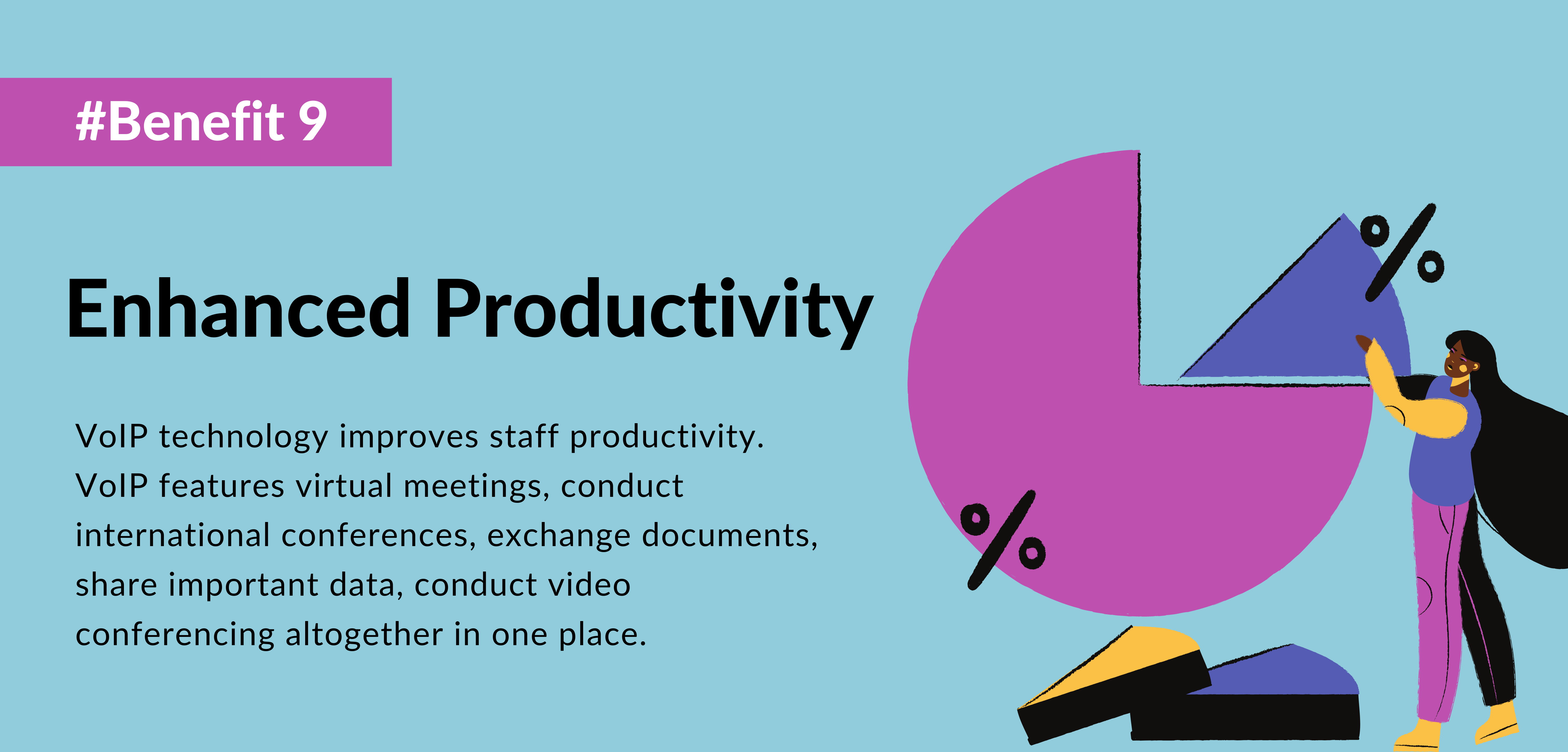 ninth benefit of using voip is Enhanced Productivity- telecloud