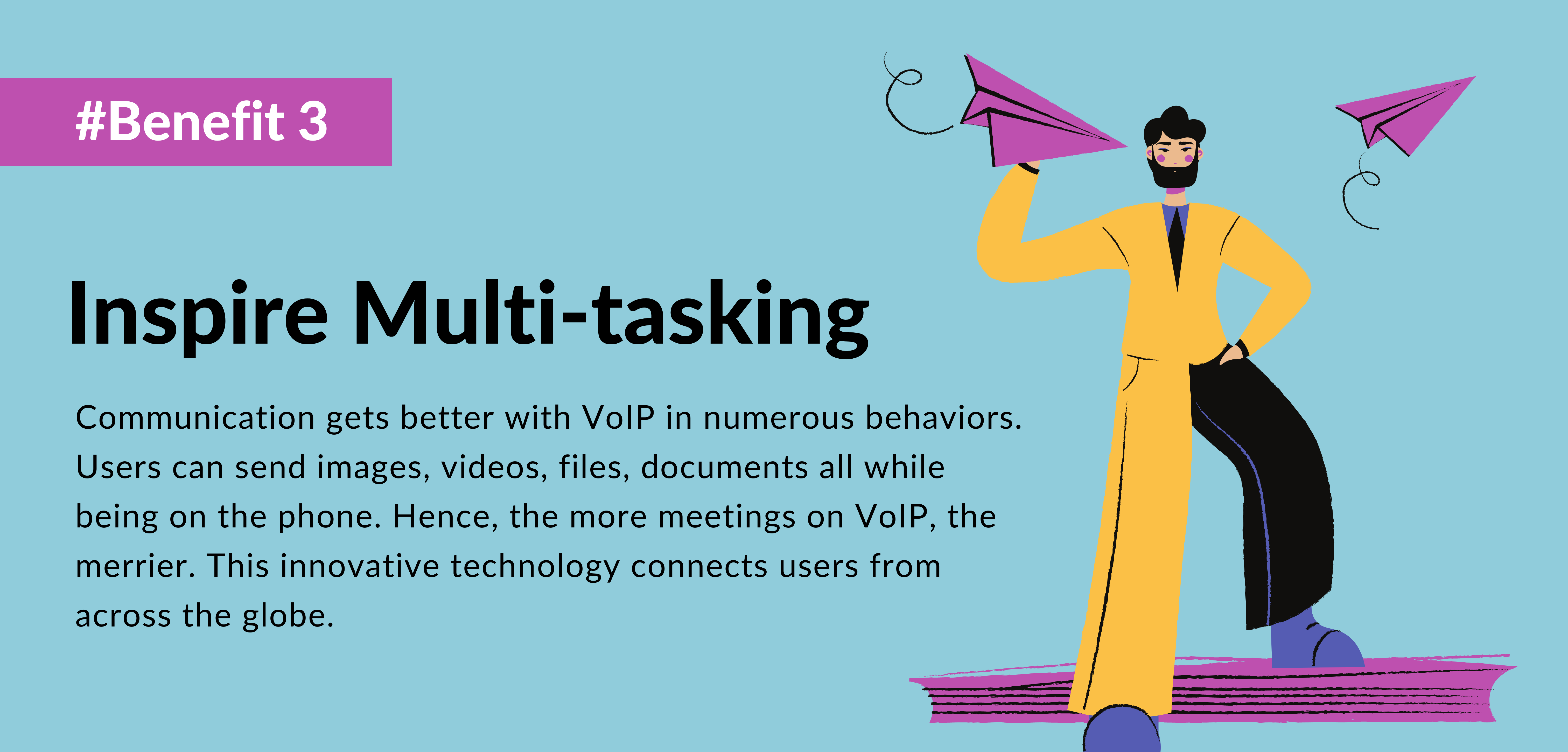 third benefit of using voip is Multi-tasking- telecloud